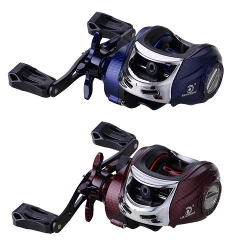 16 Ball Bearings High Speed Baitcasting Fishing Reel, Gear Ratio 7.2:1, Right and Left Hand