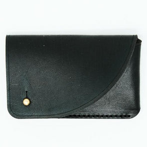 Leather Card Wallet: Sable