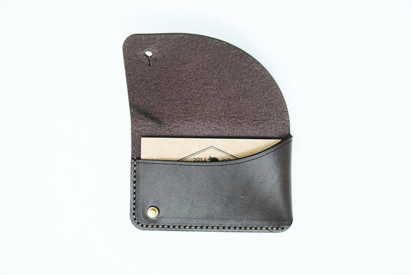 Leather Business Card Case: Bison