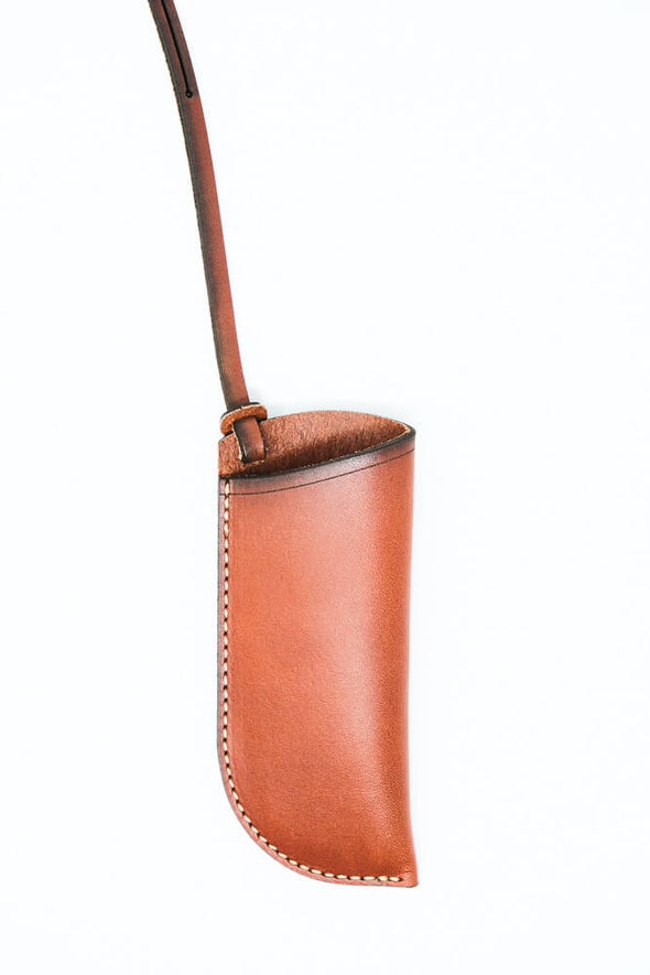 The Buckaroo Dangling Pocket Knife Sheath: Chestnut
