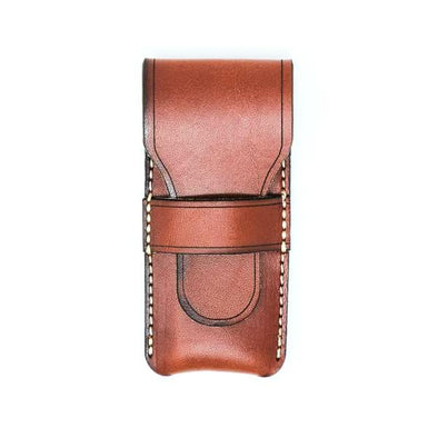 Leather Pocket Knife Slip Case: Chestnut