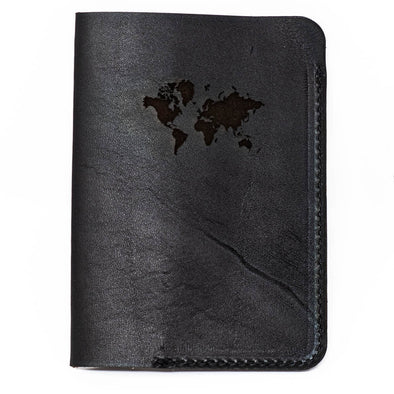 Leather Passport Cover: Continental Edition- Sable