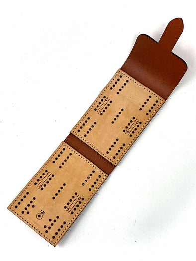 WWII Recreation Handmade Folding Travel Cribbage Board