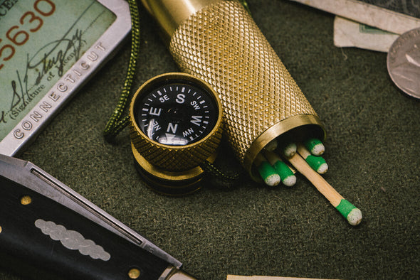 K&M Solid Brass Match Case