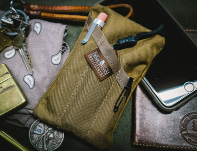 The PocKit EDC Pocket Organizer- Classic carry Coyote Brown