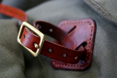 BushStraps Leather Buckled Ruck Straps