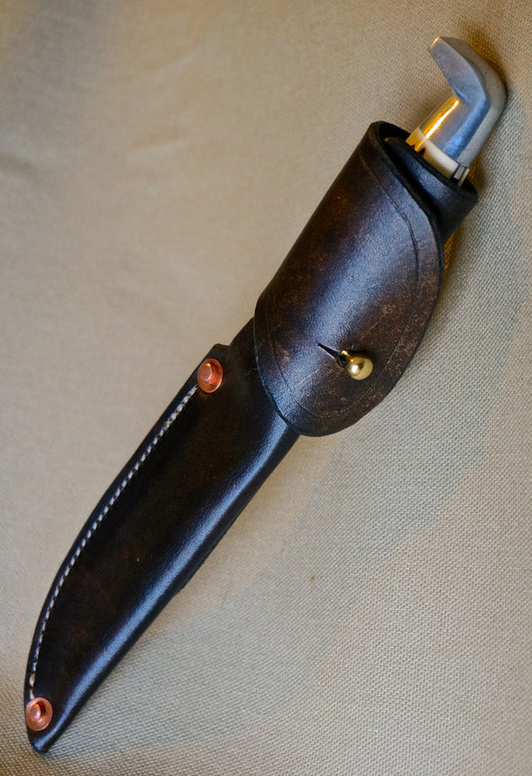 Custom Handmade Bird & Trout Knife belt sheath