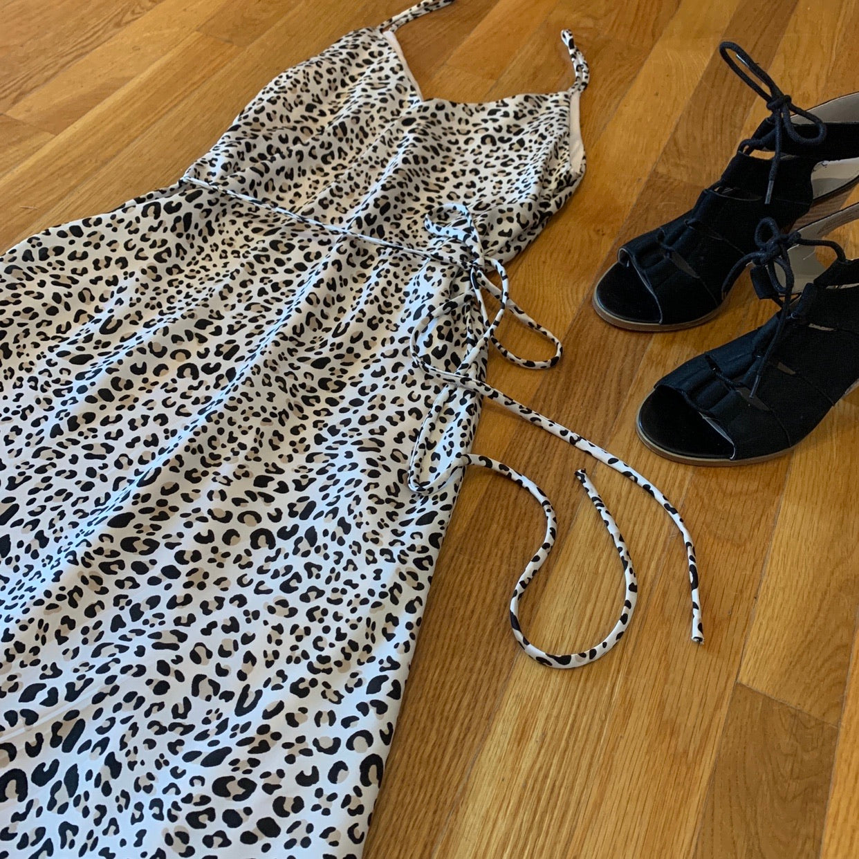 Animal Print Satin Dress