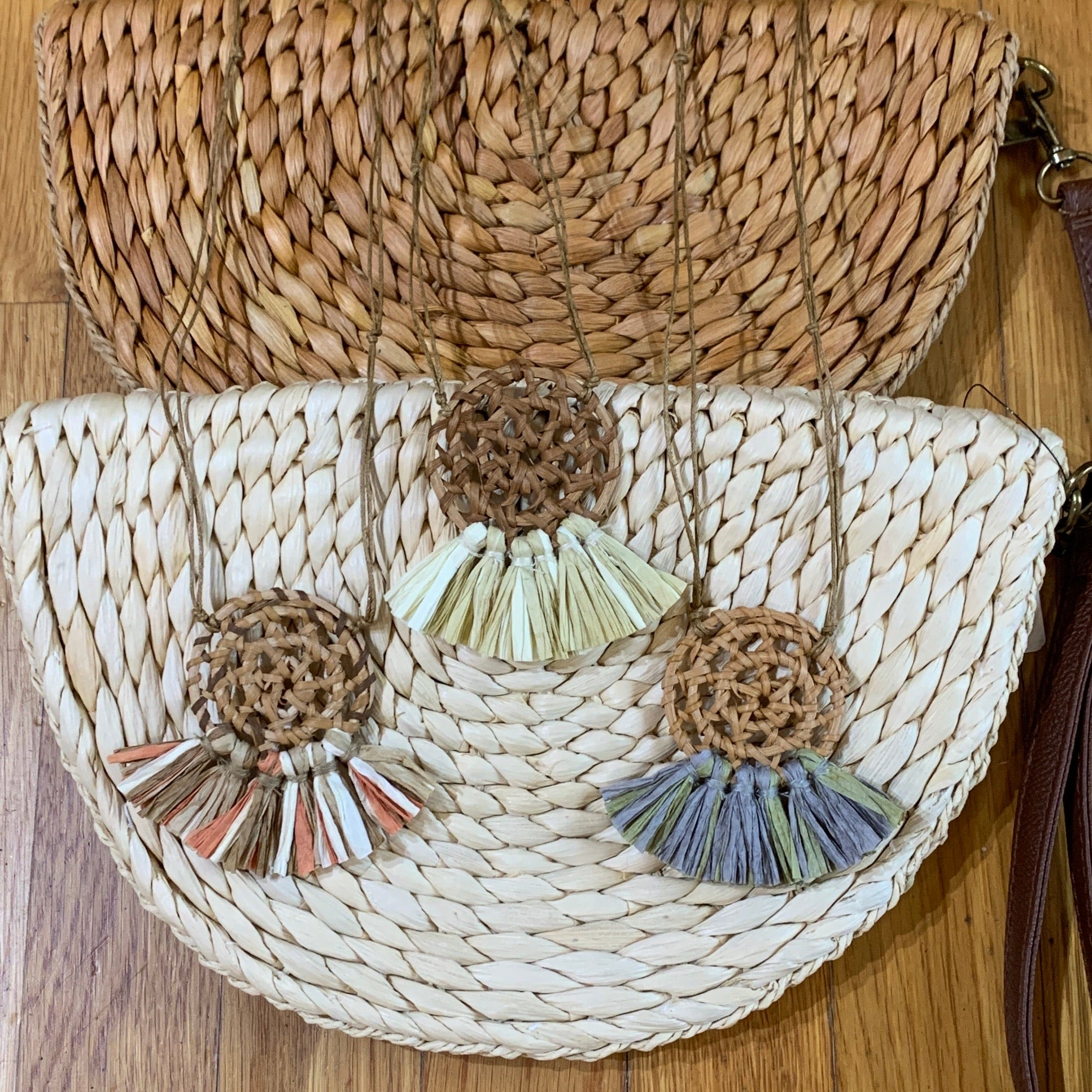 Rattan Fan Necklace