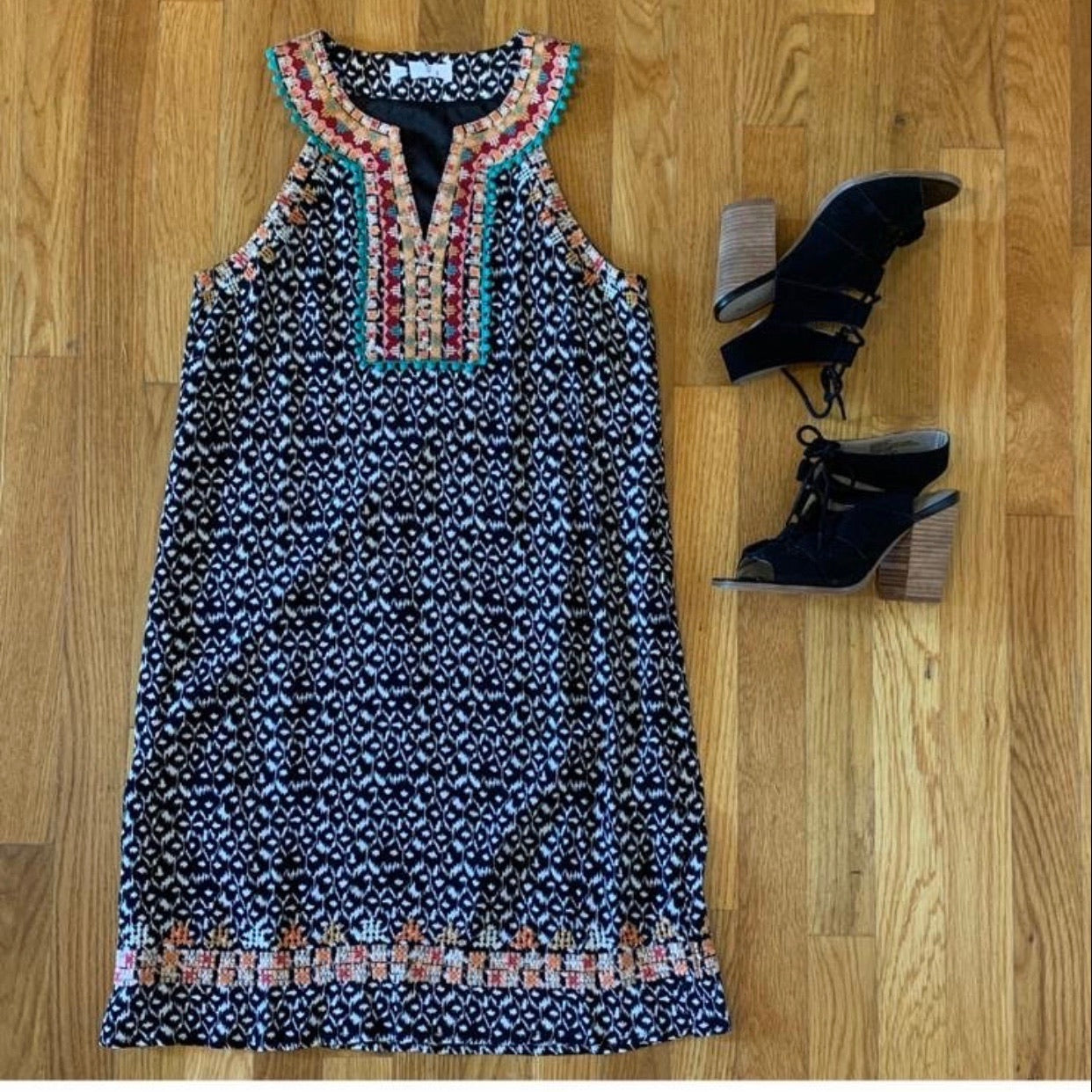 Tribal Embroidered Dress