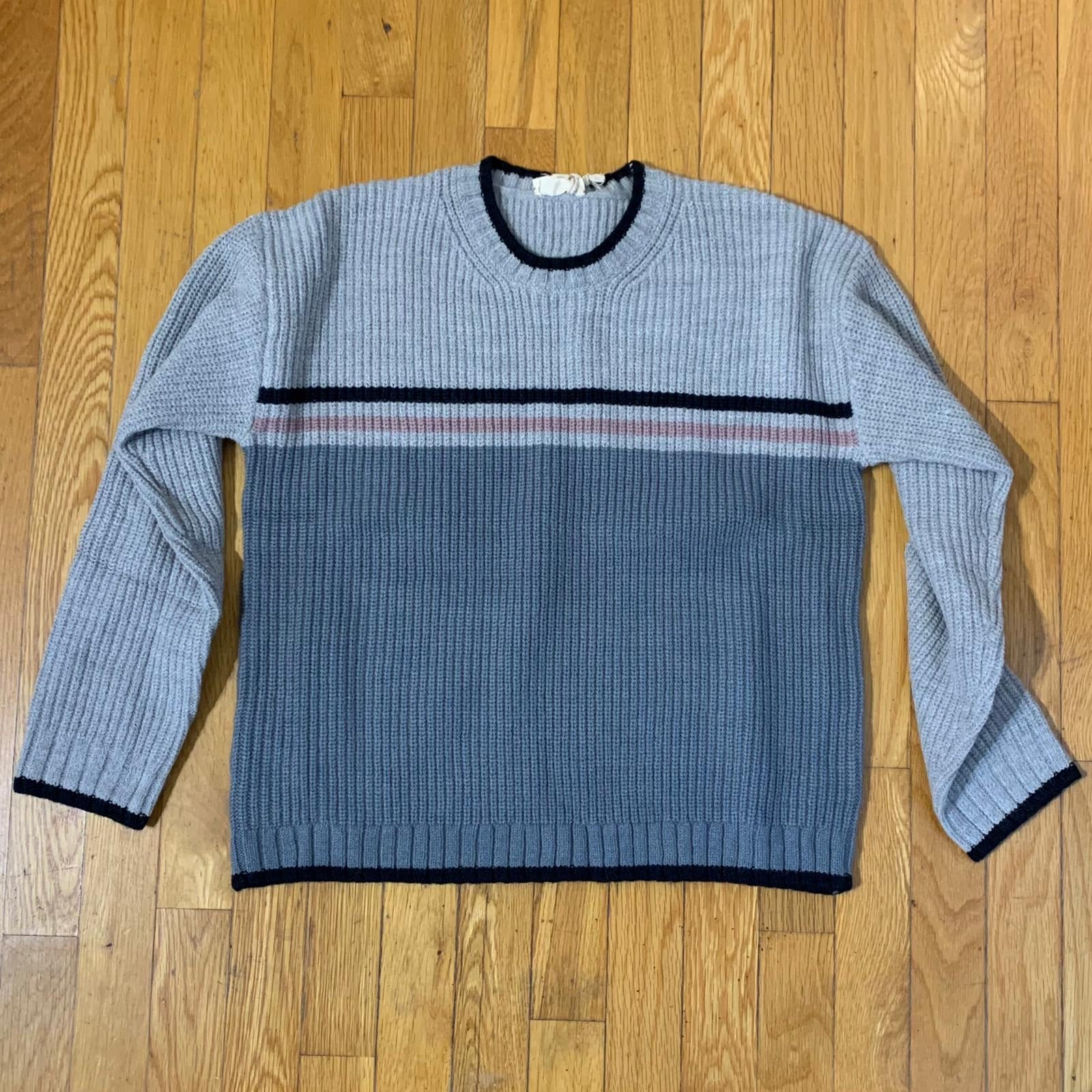 Stripe Color Block Sweater