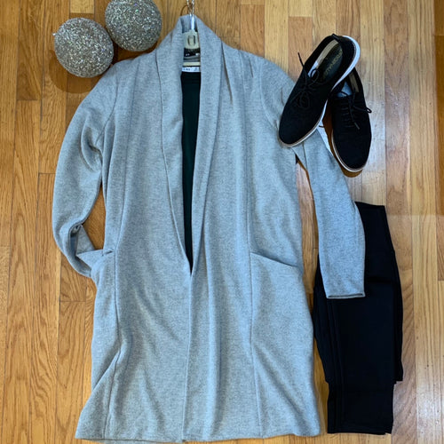 Stone Grey Heather Cardi