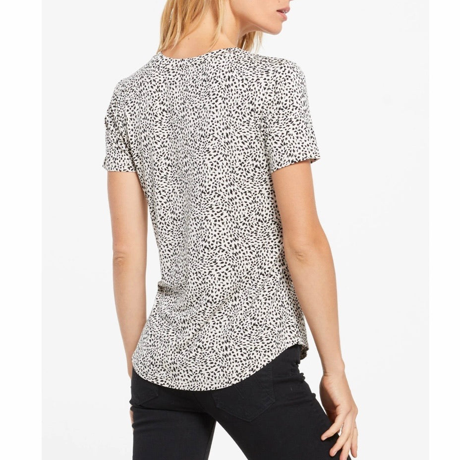Mini Leopard Jersey V-Neck Tee