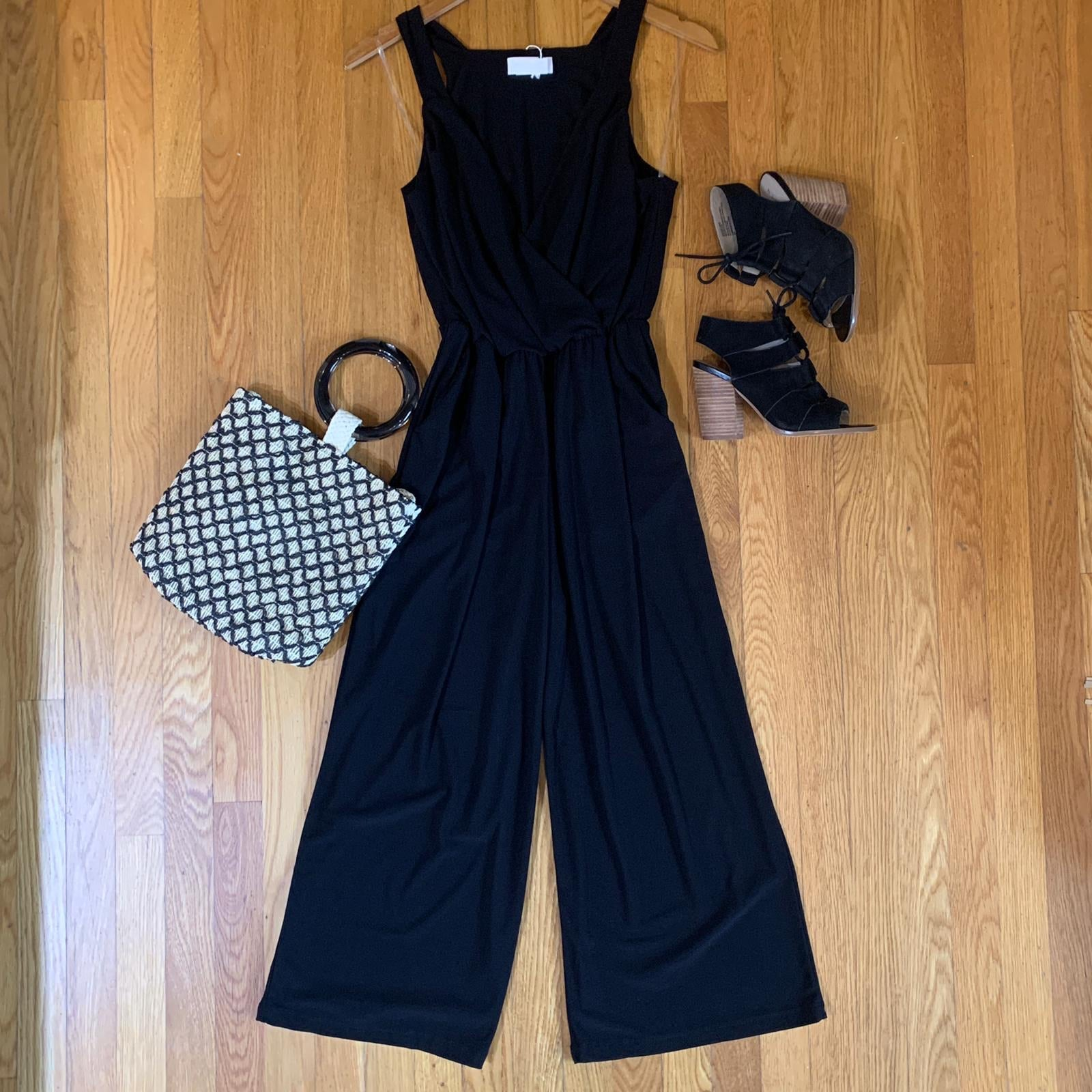 Criss Cross Cropped Jumpsuit