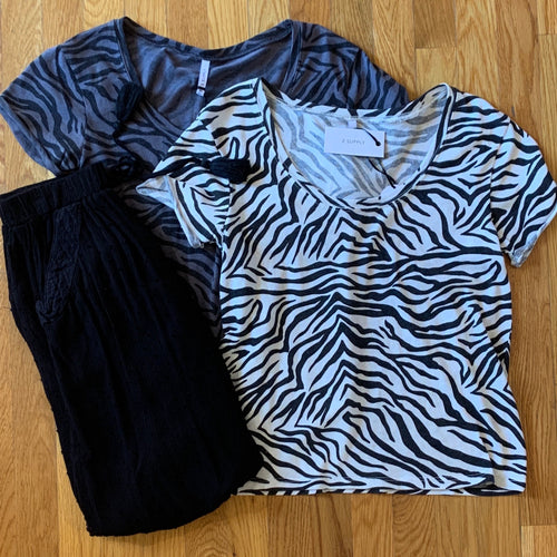 Zebra Scoop Neck Tee
