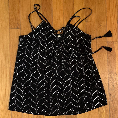 Ladies Black Print Cami