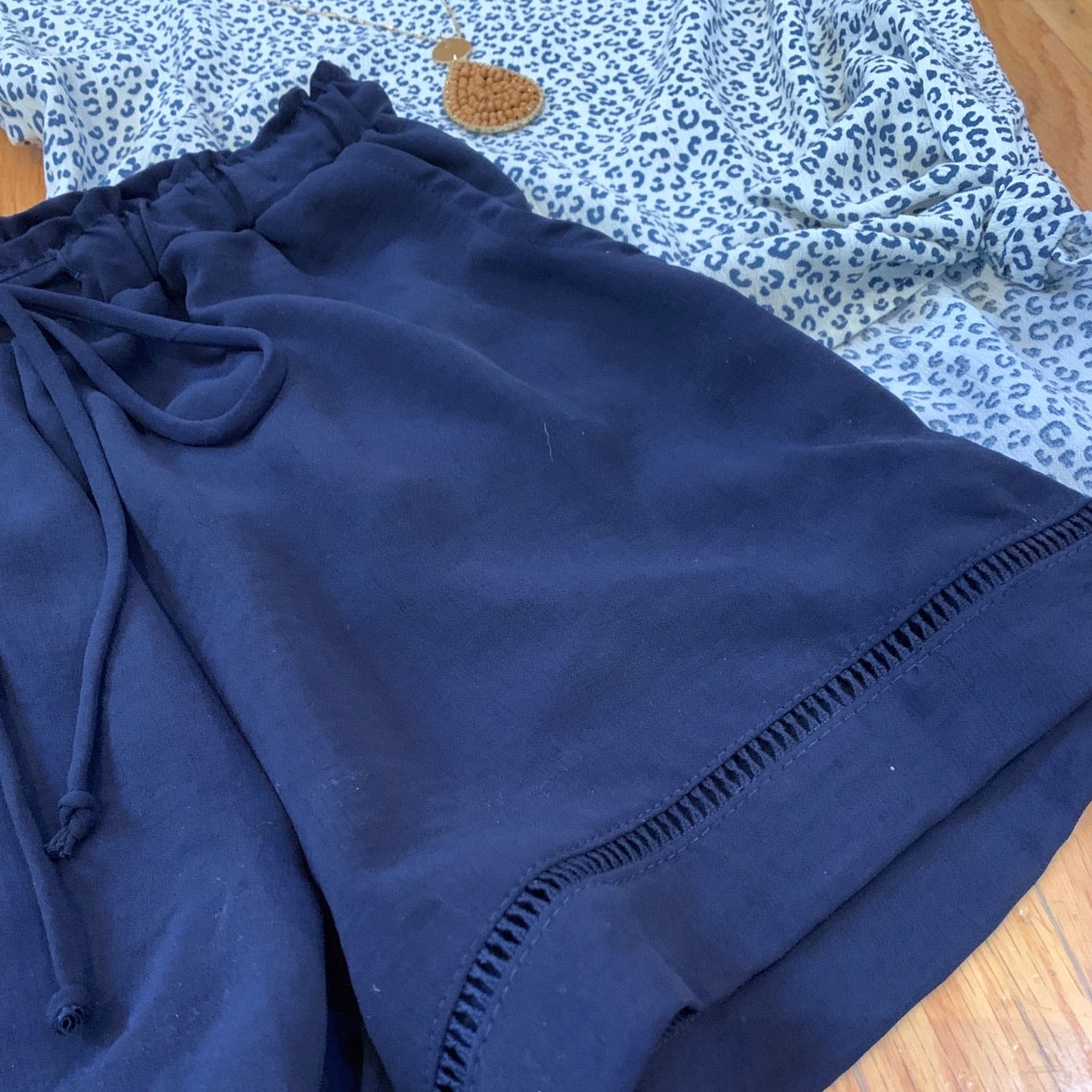 Navy Drawstring Shorts