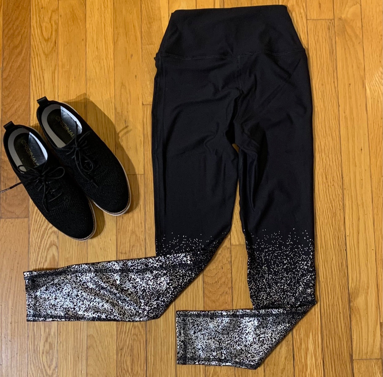 Metallic Foil Raindrop Leggings