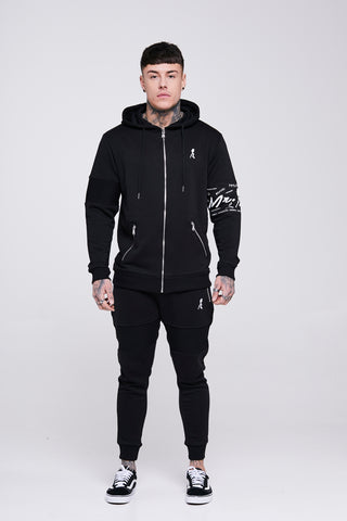 Black Arm Band Tracksuit Joggers