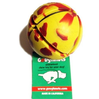 Goughnuts - Interactive Chew Toy for Dogs - Ball Yellow