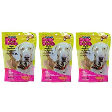 Fido Belly Bone Yogurt Dog Bone - Medium 8ct. (Pack of 3)