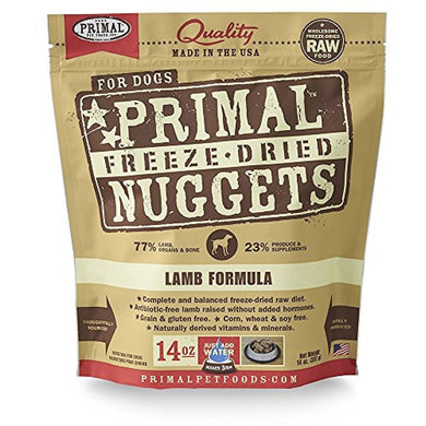 Primal Freeze Dried Pet Foods Lamb 14OZ