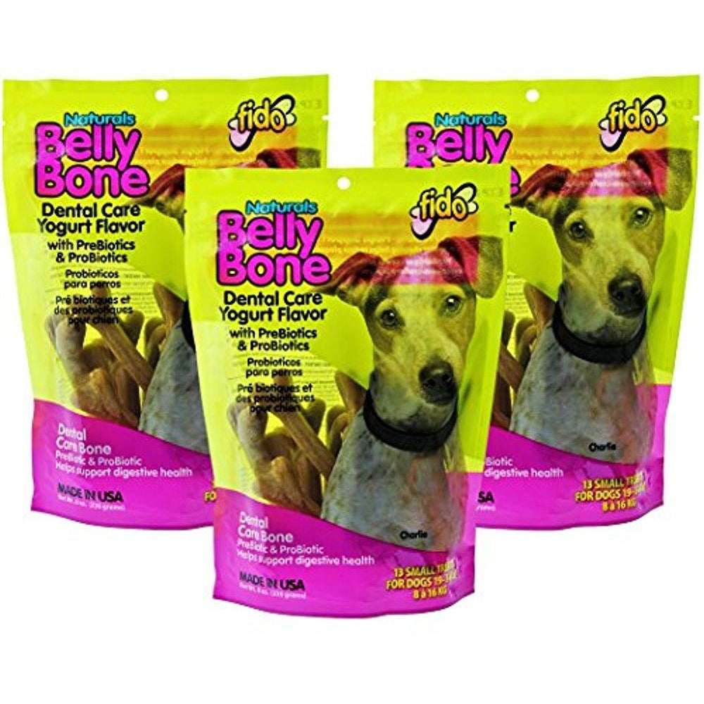 Fido Belly Bone Yogurt Dog Bone - Small 13ct (Pack of 3)