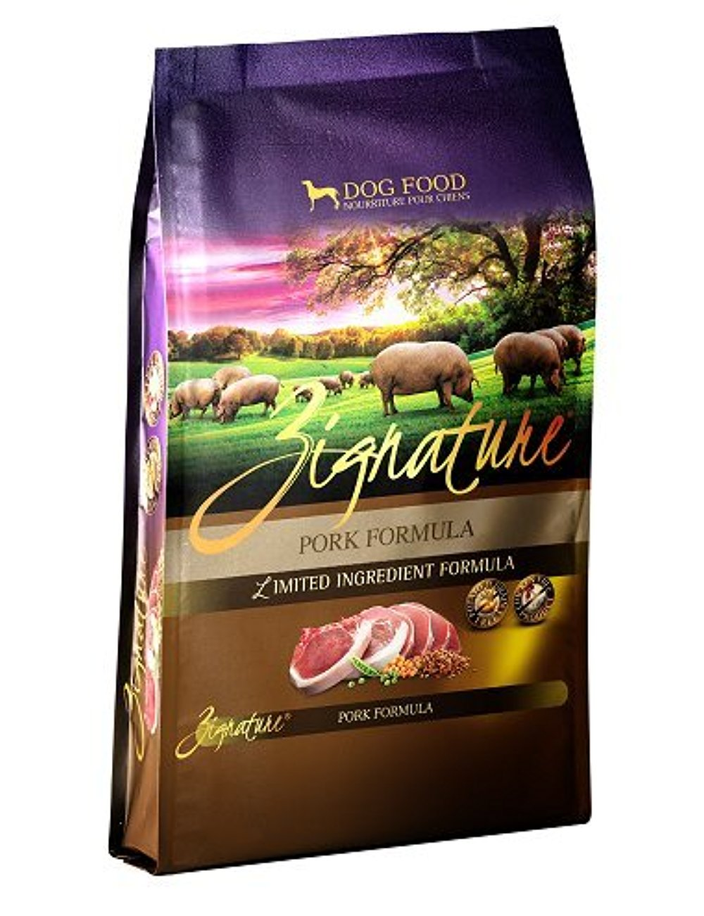 Zignature 12713161 Pork Formula Dry Dog Food, 13.5 lb
