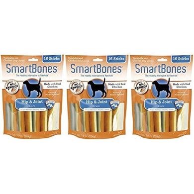 SmartBones Functional Health Hip and Joint Care Chicken Treat Sticks for Dogs (16 Treats Per Pack / 48 Treats Total) (3 Pack)