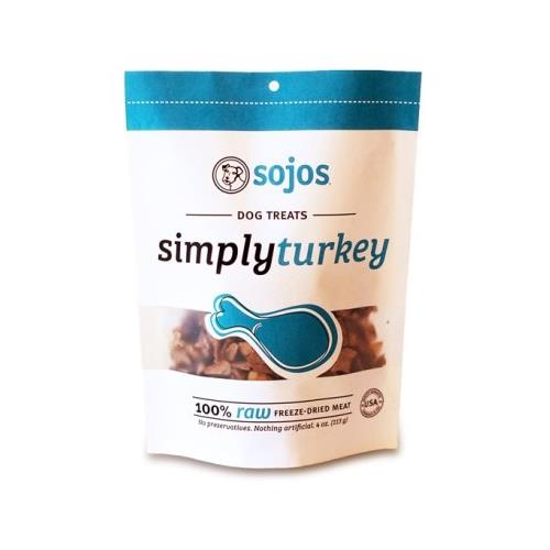 Sojos Simply Turkey Dog Treats, 4 Oz - 2 Pack