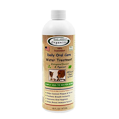 Mad About Organics All Natural Dog & Cat Daily Oral Care Liquid Plaque & Tartar Remover 16oz