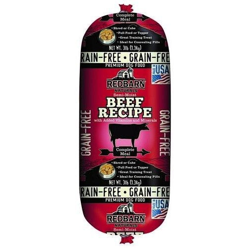 Redbarn GrainFree Rolled Dog Food Beef (3 lbs)