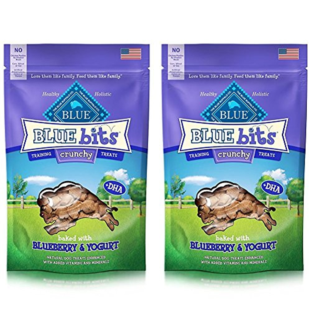 Blue Buffalo Crunchy Blue Bits Dog Treats - Blueberry & Yogurt (2 Pack)