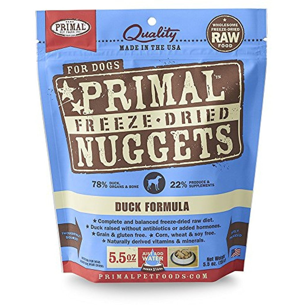 Primal Freeze-Dried Nuggets Duck Formula for Dogs 5.5OZ