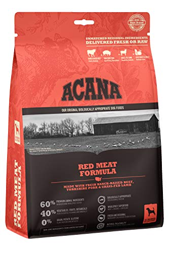 ACANA Heritage Dry Dog Food, Red Meat, Biologically Appropriate & Grain Free 12oz