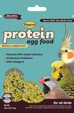 Higgins Pet Food Protein Egg Food Usa - 5oz