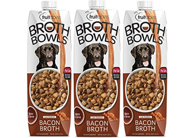 Fruitables 33.8 Ounce Best Bacon Broth Bowls Natural Food Topper Pack Of 3