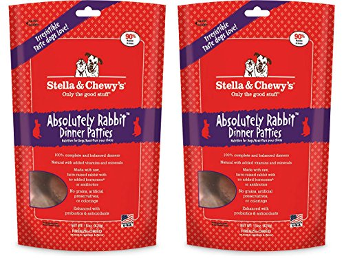 Stella & Chewy's Freeze Dried Absolutely Rabbit Dog Food, 14 oz - 2 Pack ( 28 Oz Total)