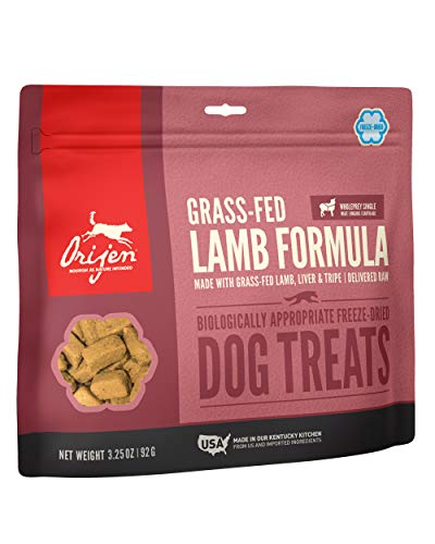 ORIJEN Freeze-Dried Dog Treats, Grass-Fed Lamb, Biologically Appropriate & Grain Free 3.25oz