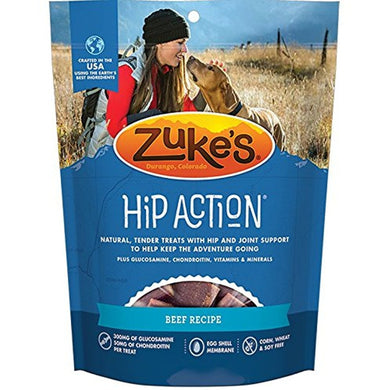 ZUKE HIP ACTION BEEF DOG TREAT 6Z (3 PACK)