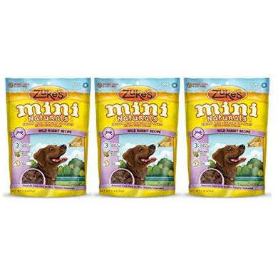 ZUKE MINI NATURAL RABBIT DOG TREAT 16Z (3 PACK)