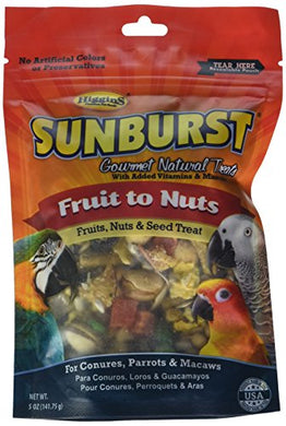 Higgins Sunburst Fruits to Nuts Gourmet Treats for Conures, Parrots & Macaws