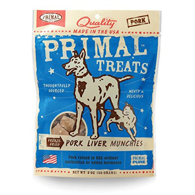 Primal Treats Freeze-Dried Pork Liver Munchies