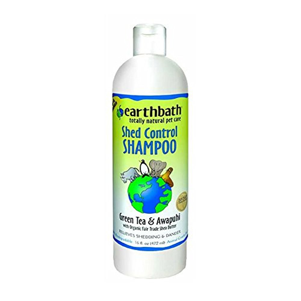 EarthBath All Natural Green Tea Shampoo Shed Control for Pets Dogs Cats 16z