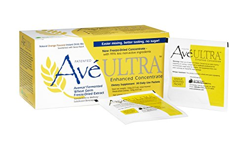 American BioSciences AvéULTRA | Daily Immune System & Cell Support | Fermented Wheat Germ Extract | Natural Orange-Flavored Instant Drink Mix, 30 Packets