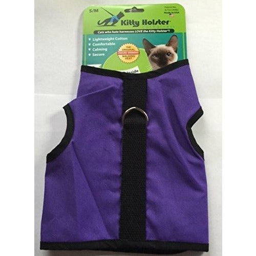 Kitty Holster Cat Harness Purple Small MED