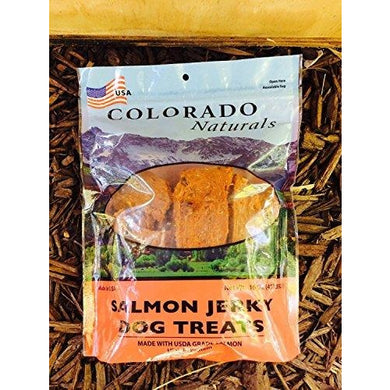 Colorado Naturals Wild Caught Salmon Jerky Dog Treats. Made in USA with 100% U.S.D.A. Grade Salmon 1Lb