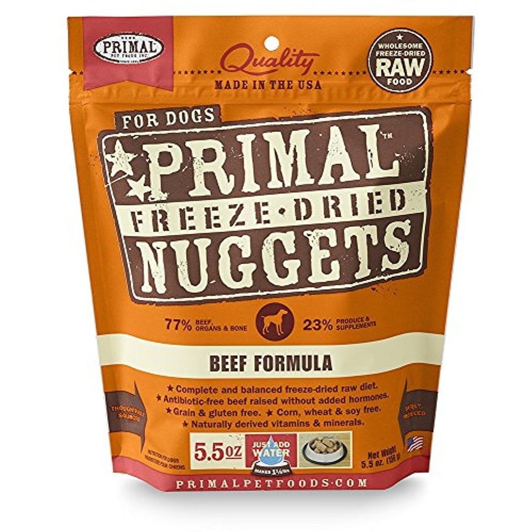 Primal Freeze Dried Beef Formula for Dogs 5.5oz