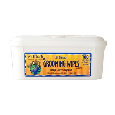 Earthbath All Natural Grooming Wipes, Mango Tango - Pack of 1