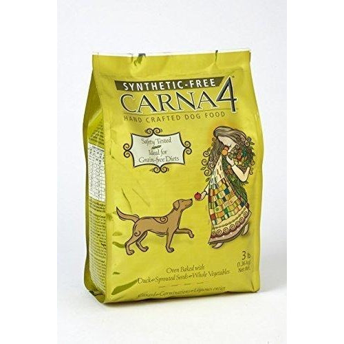 Carna4 Hand Crafted Dog Food, 3-Pound, Duck